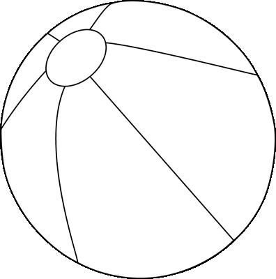 396x400 Black And White Beach Ball Clip Art