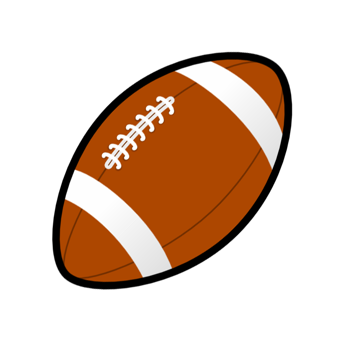 682x682 Football Ball Black And White Clipart
