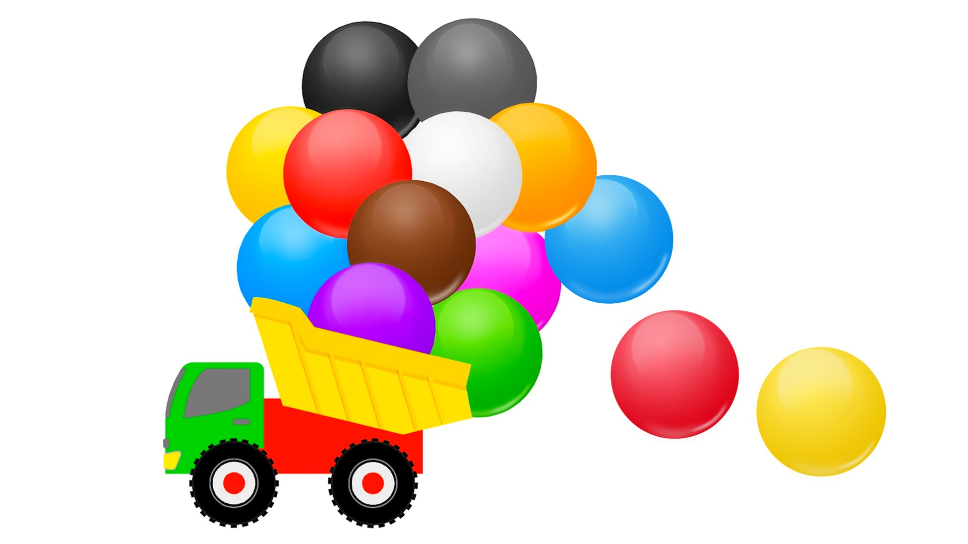 1920x1080 Colors Children Learning With Color Balls Monster Trucks