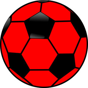 298x297 Red And Black Soccer Ball Clip Art