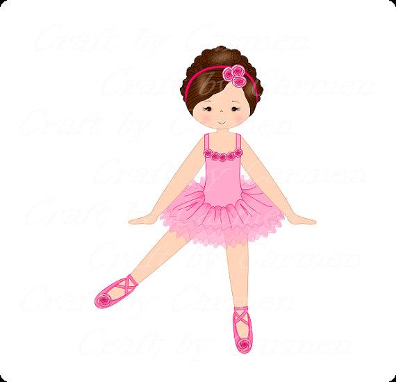570x550 Ballerina Clip Art, Dancer, Ballet Digital Art, Scrapbook