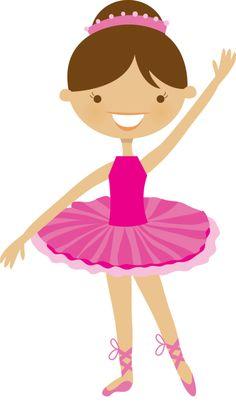 236x402 Cute Ballerina Illustration Print For Girl's Room Or Nursery Wall