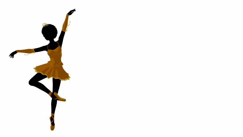 852x480 African American Ballerina Twirling Around On A White Background