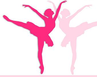 340x270 Pink Ballerina Clipart