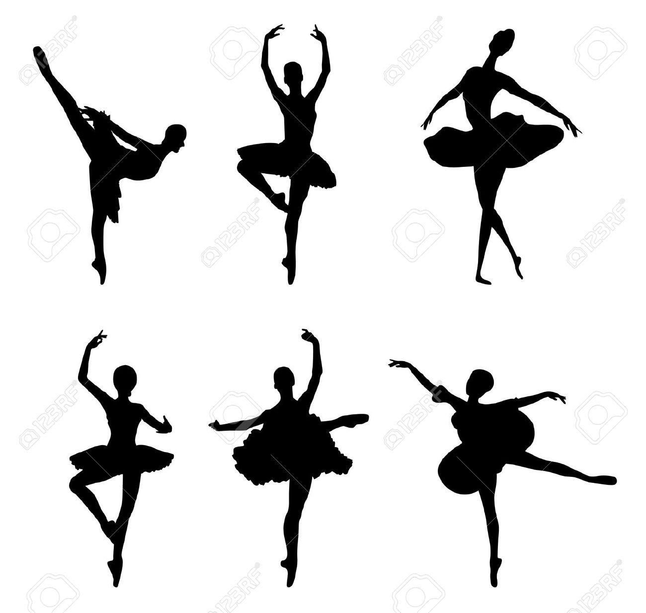 1300x1234 Ballerina Borders Clip Art