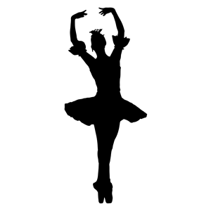 300x300 Arms Raised Ballerina Silhouette Clipart, Cliparts Of Arms Raised