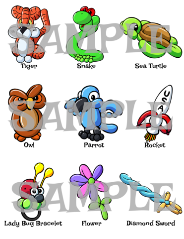 371x480 Balloon Animal Menu 6 Twister Sister Balloon Supplies