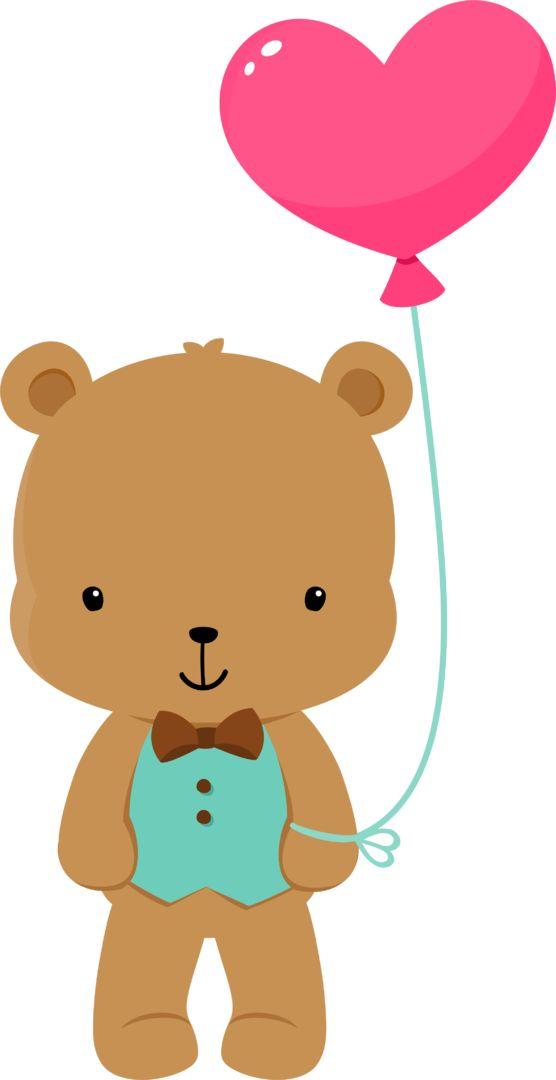 556x1080 Balloon Clipart Bear