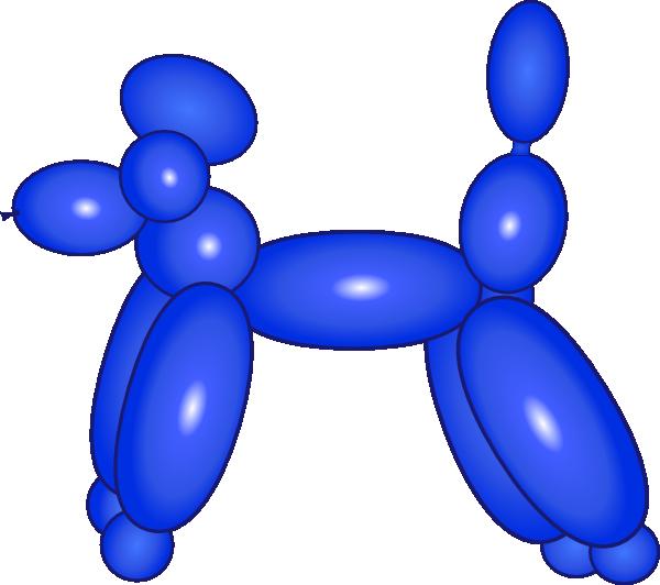 600x532 Balloon Dog Blue Clip Art
