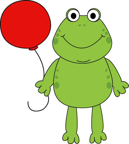 450x501 Frog With A Balloon Clip Art