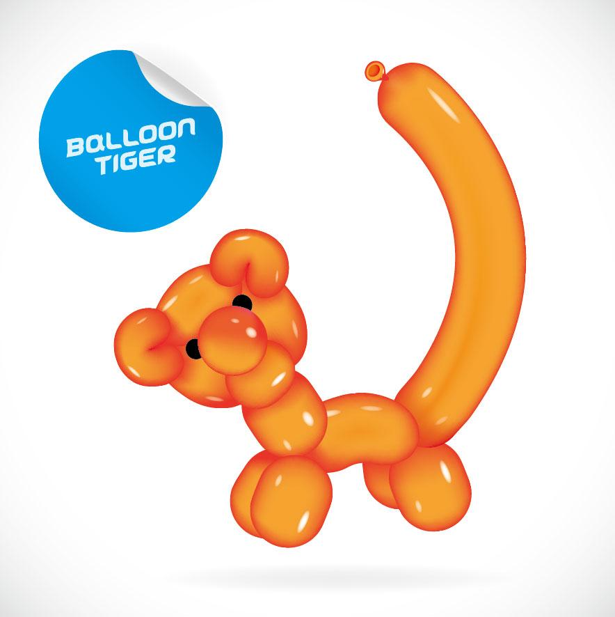 884x886 animal balloon clipart