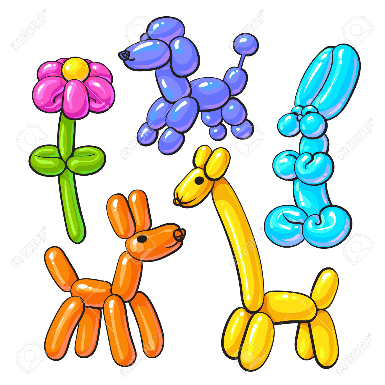 1300x1300 Animals Balloons Clipart, Explore Pictures