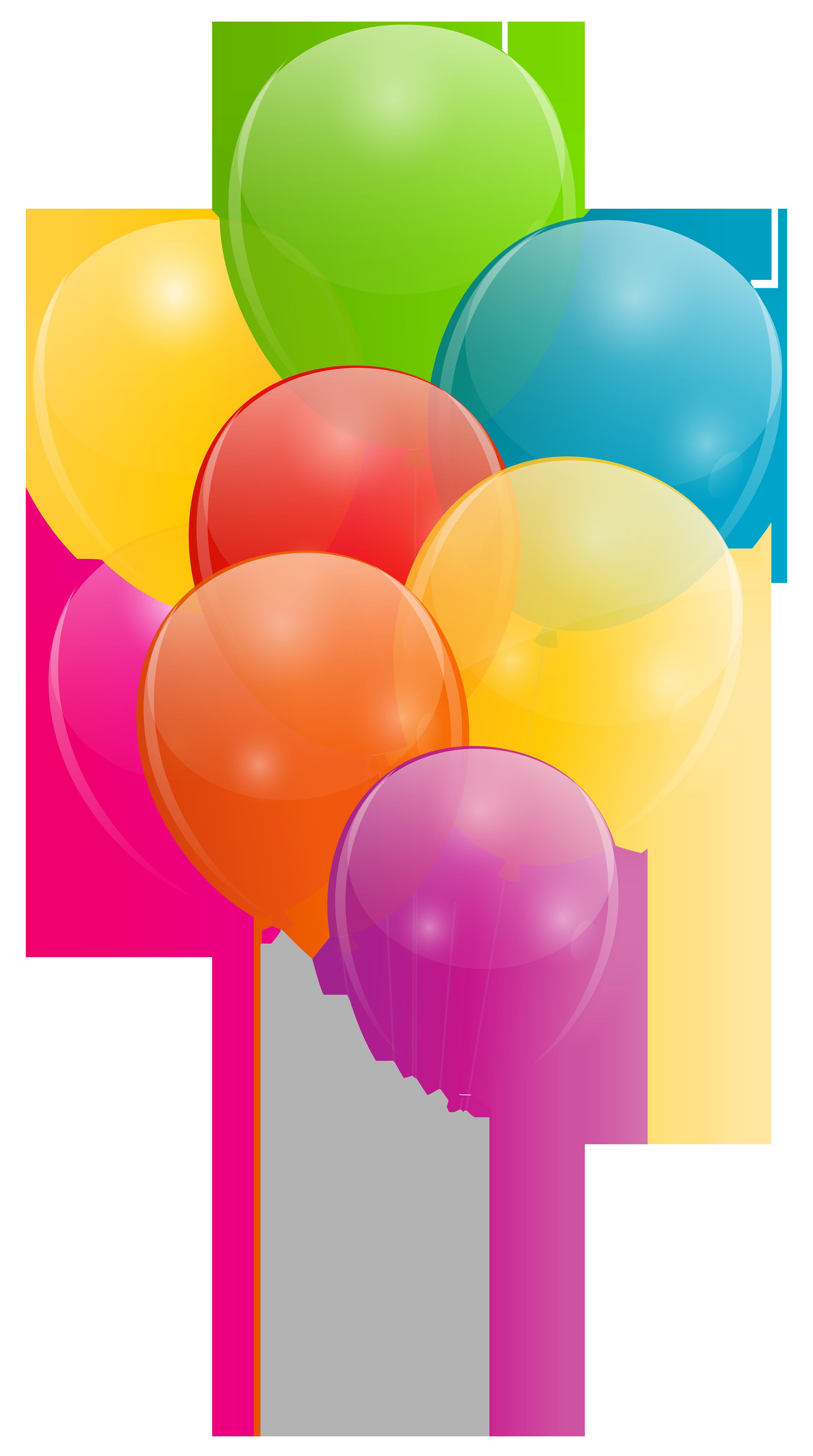 4468x8000 Balloons Png Clip Art