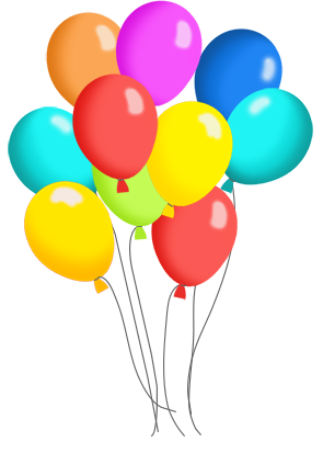 295x413 Birthday Balloons And Cake Clip Art Many Colorspng Clipart