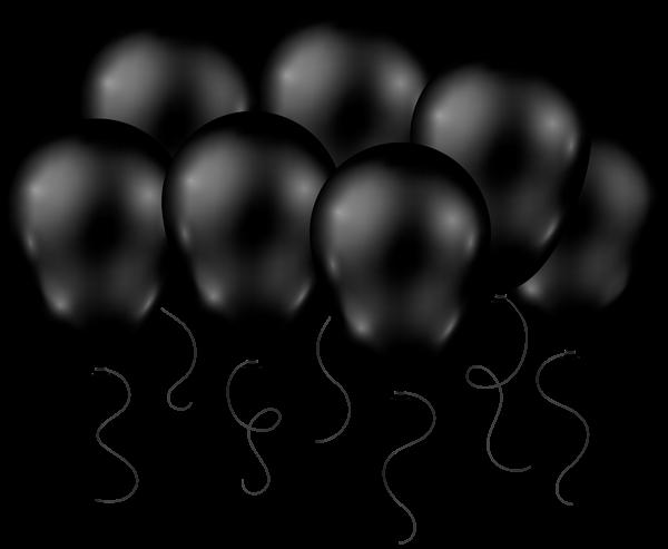 600x493 Black Balloons Transparent Png Clip Art Image Clipart