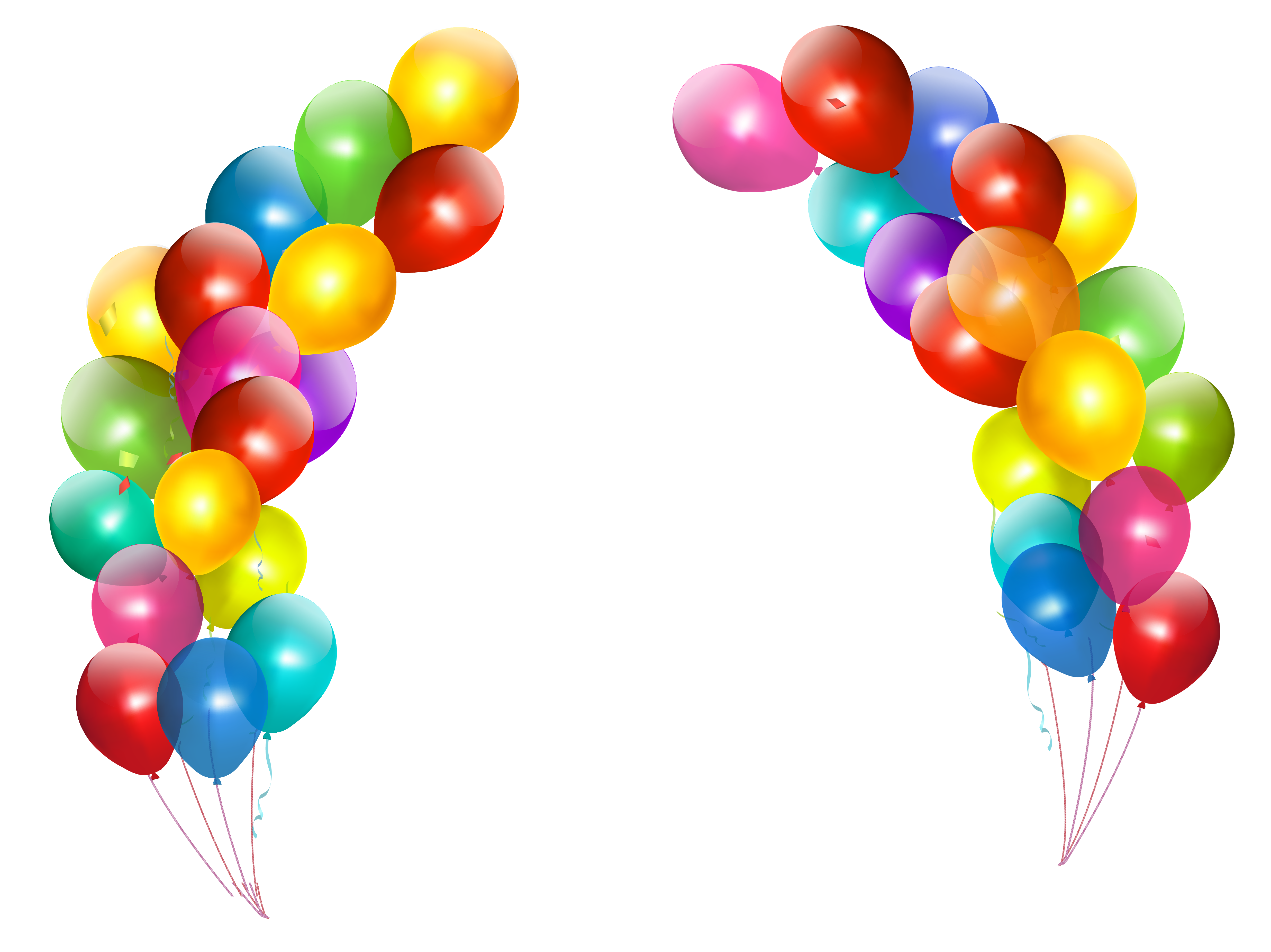 4944x3702 Colorful Balloons Decor Transparent PNG Clipartu200b Gallery