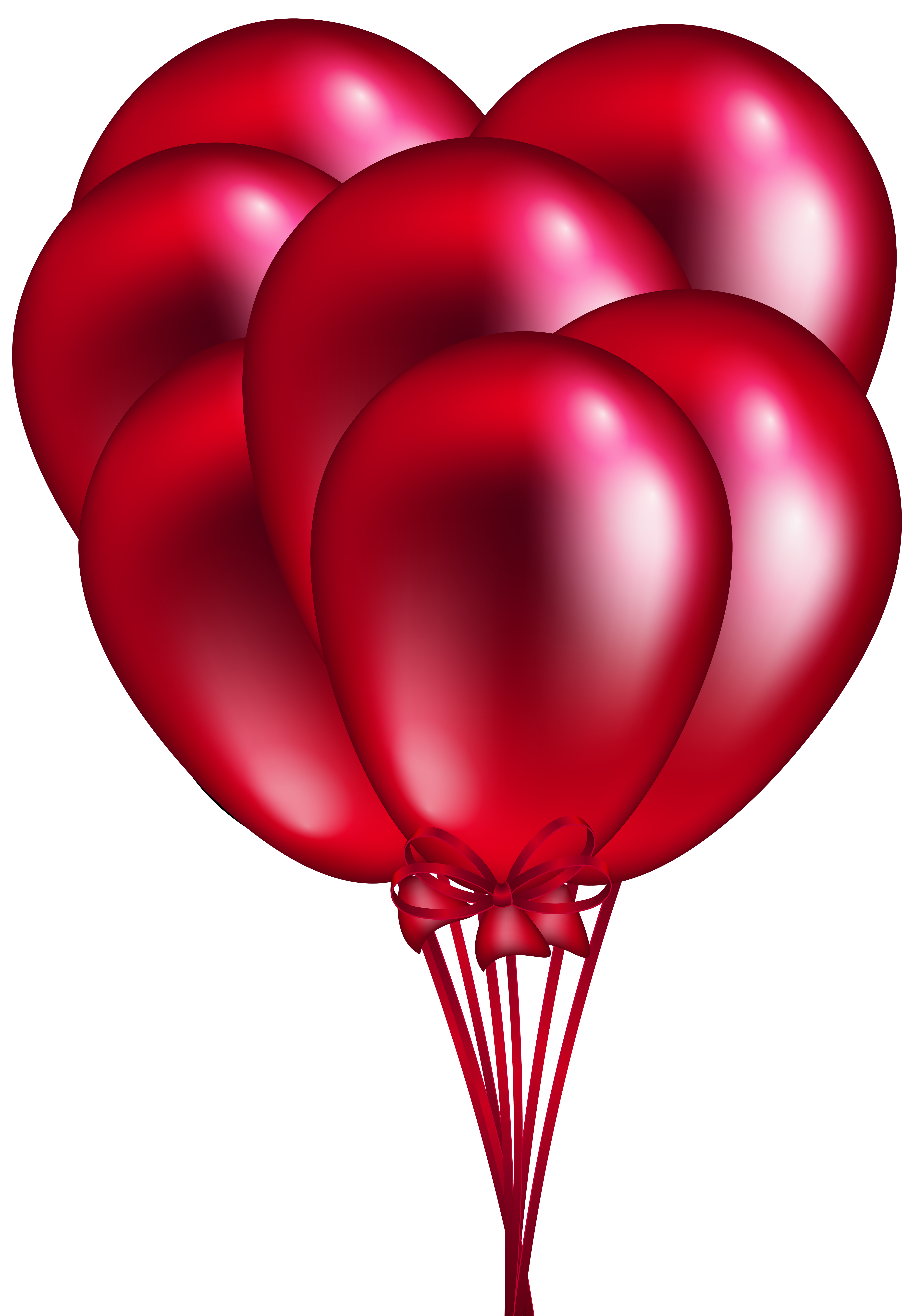 5558x8000 Red Balloon Bunch PNG Clip Art
