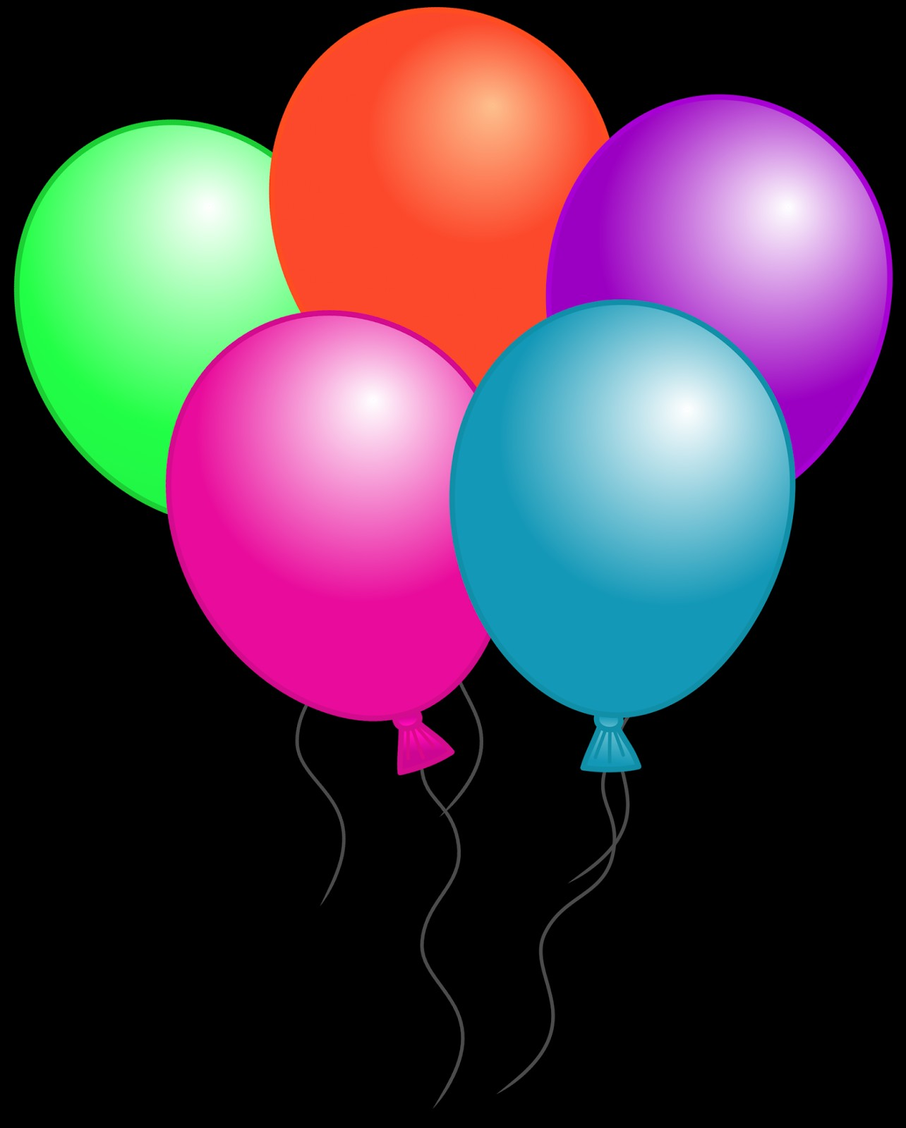 1284x1600 Balloon clipart black background