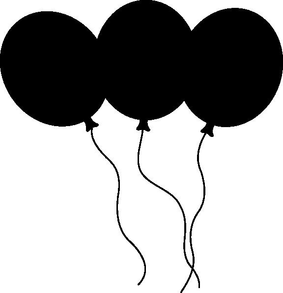 576x597 Black Balloons Clip Art