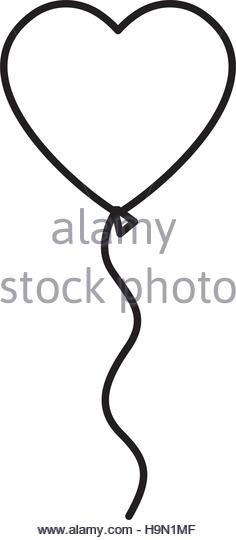 236x540 Heart Balloon Black And White Stock Photos Amp Images