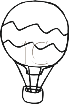 233x350 Hot Air Balloon Clipart Black And White