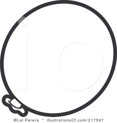 400x420 Single Balloon Black And White Clipart
