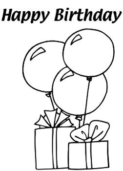 252x350 Birthday Balloons Clip Art Black And White So Cute Photo