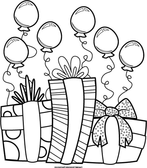 600x686 Black And White Birthday Clip Art