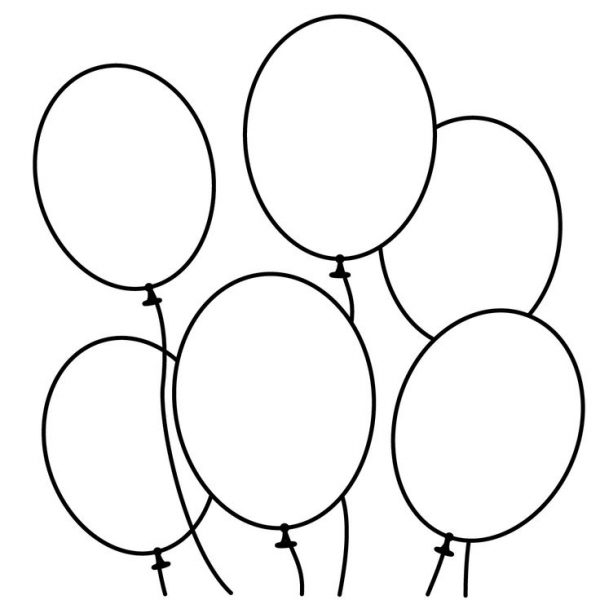 600x600 Black And White Balloon Clipart 5 Nice Clip Art