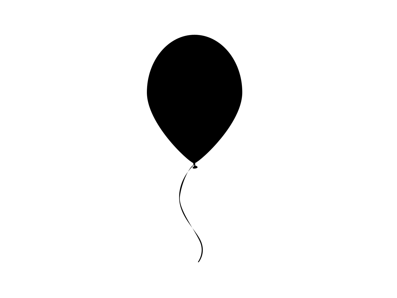 1600x1200 Black Balloon Clipart