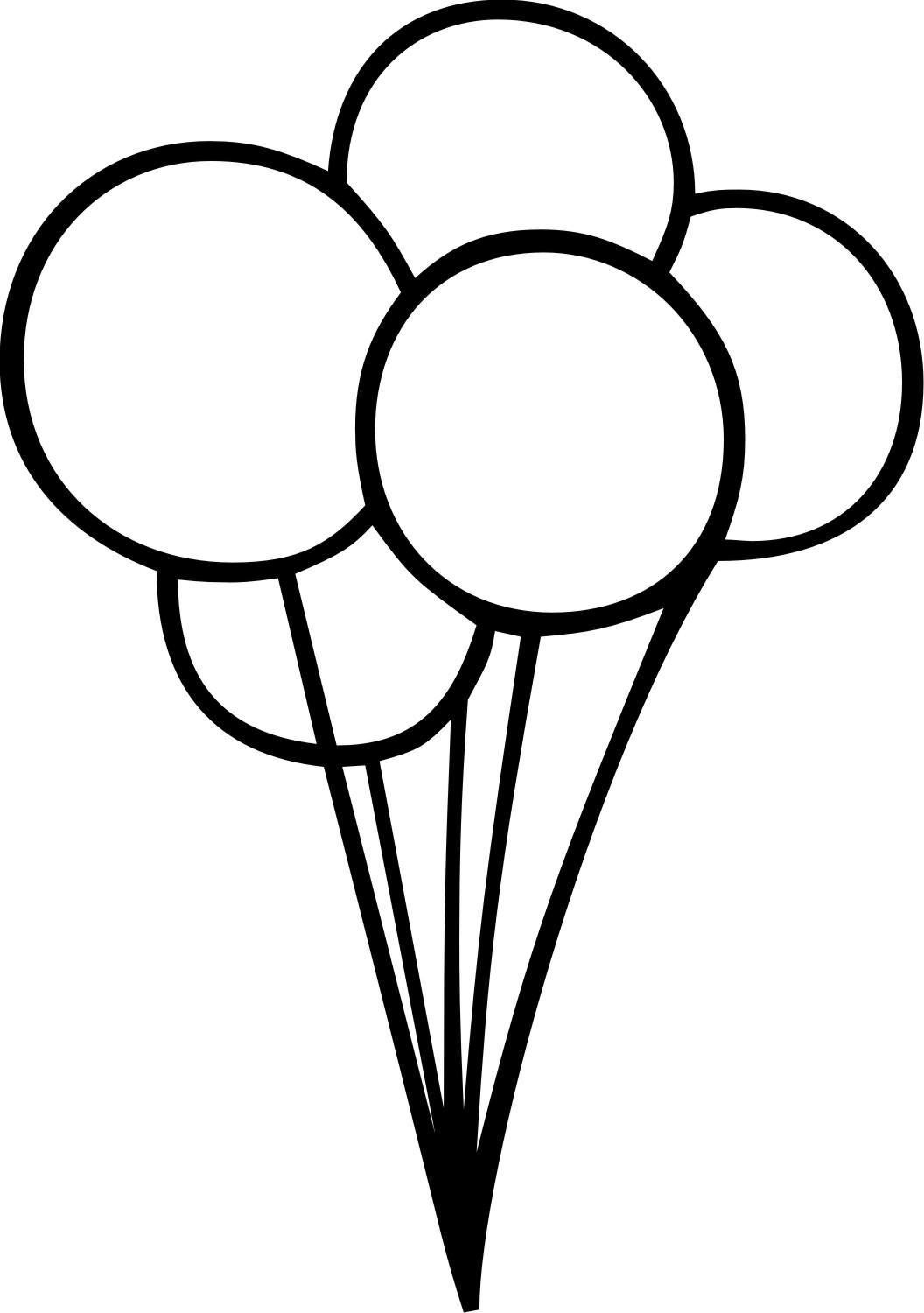 1056x1500 Hd Black And White Balloons Bunch Clipart Design