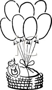 175x300 Hot Air Balloon Basket Clip Art Black And White Clipart Panda
