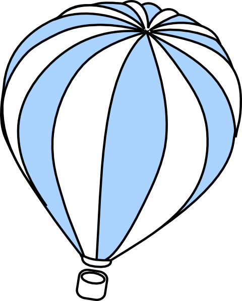 480x597 Hot Air Balloon Grey Clip Art