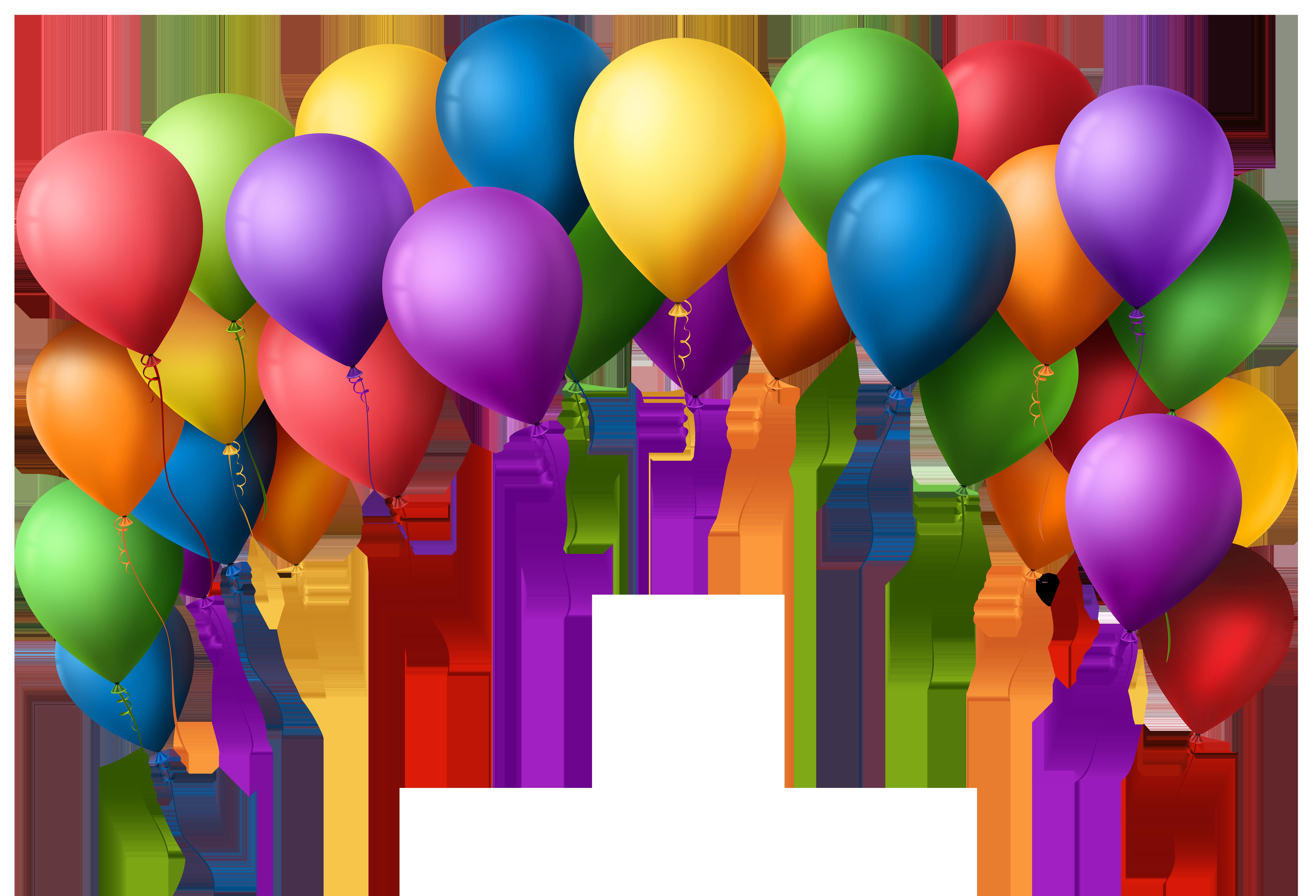 7000x4766 Balloons Clip Art