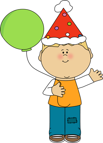 361x500 Boy With Birthday Balloon Clip Art