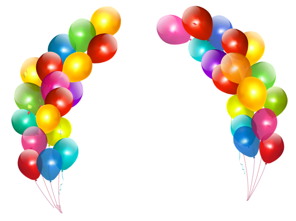 600x449 Colorful Balloons Decor Transparent Png Clipart Border Paper