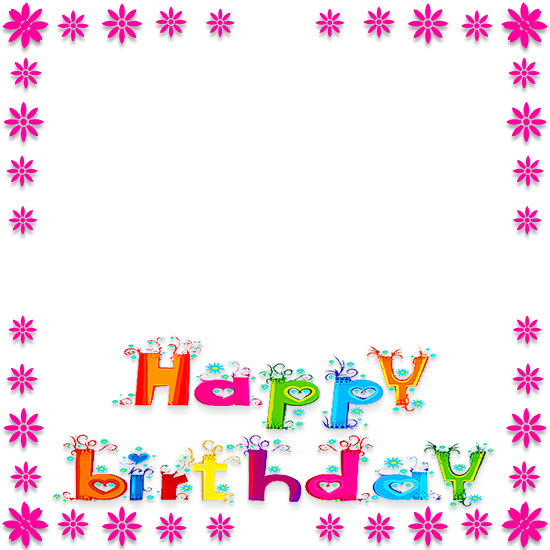550x550 Free Birthday Borders