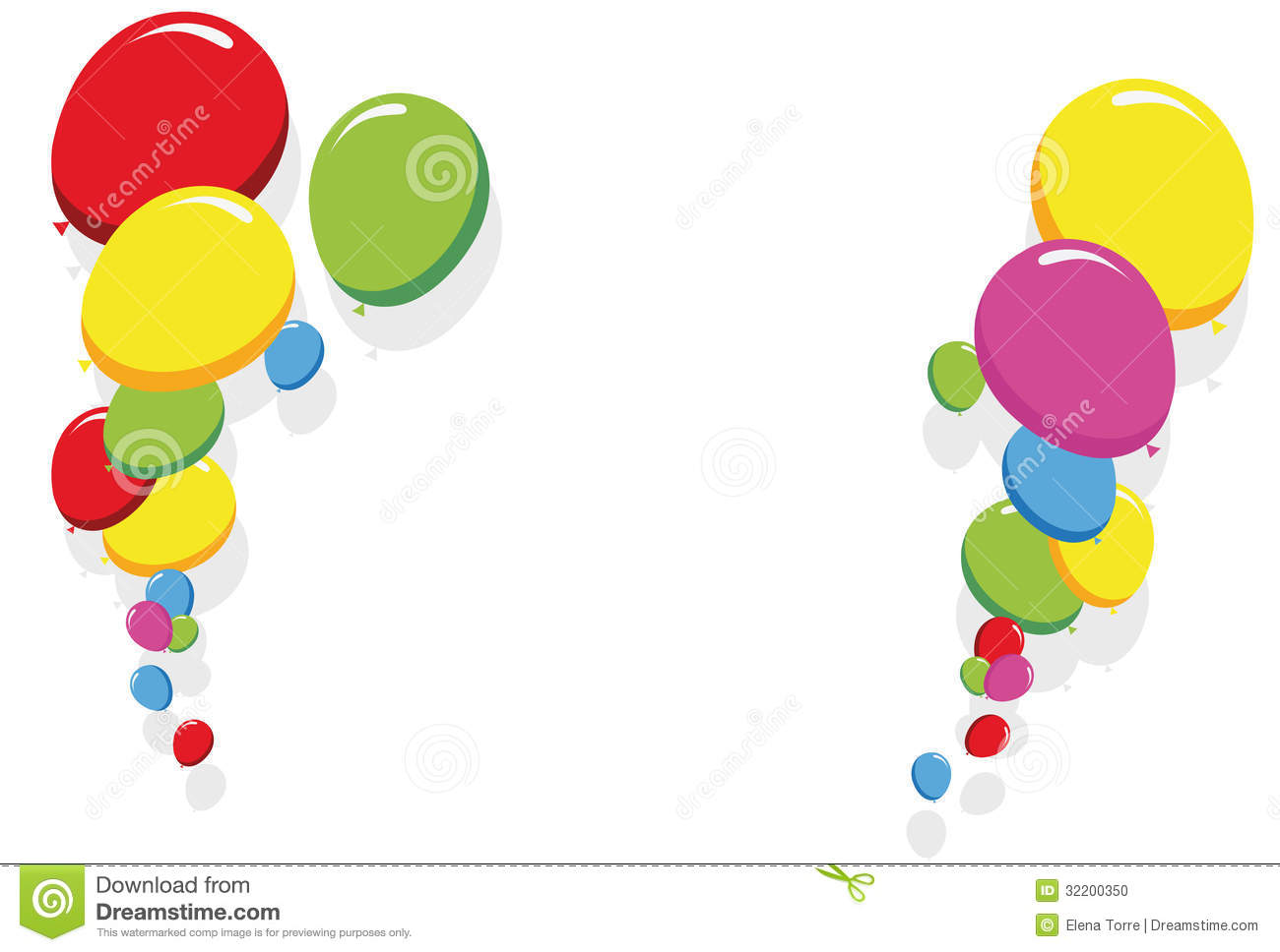 1300x968 Party Birthday Border Clipart