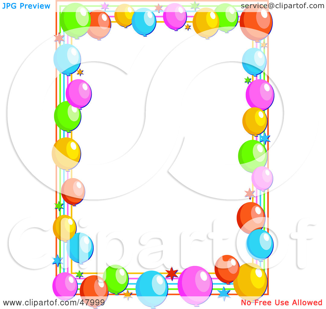 colorful balloons border party frame Colesthecolossusco