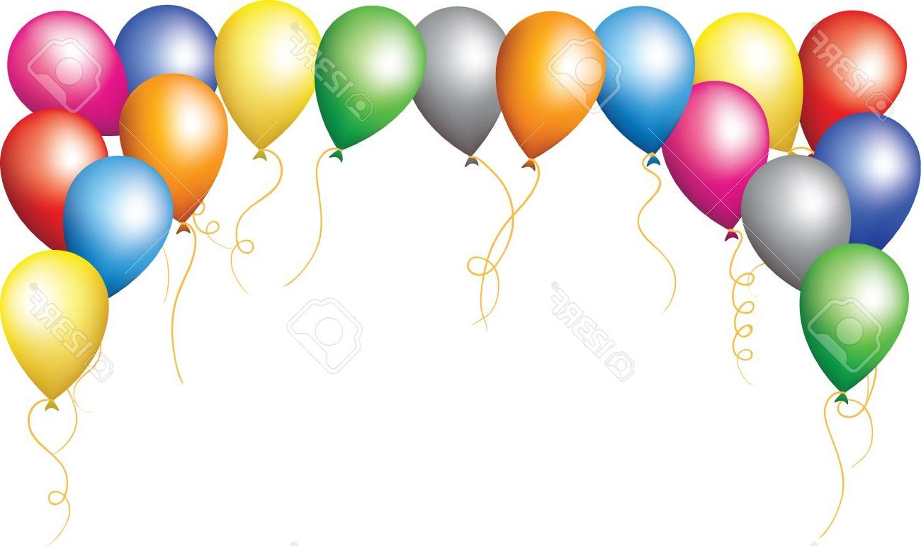 1300x771 Top Birthday Border Balloons File Free