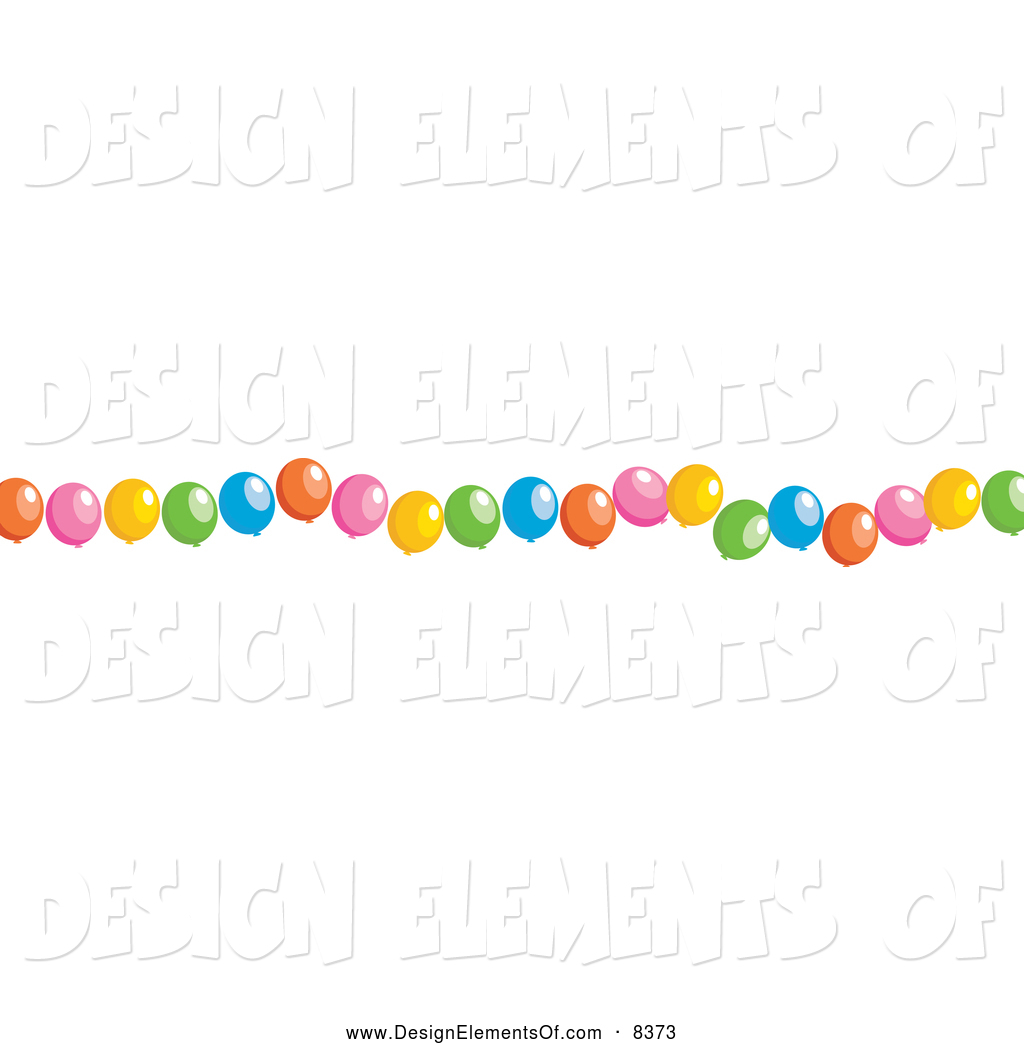 1024x1044 Vector Illustration Of A Border Of Party Balloons By Prawny