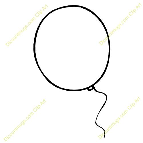 500x500 Balloon Clipart Outline