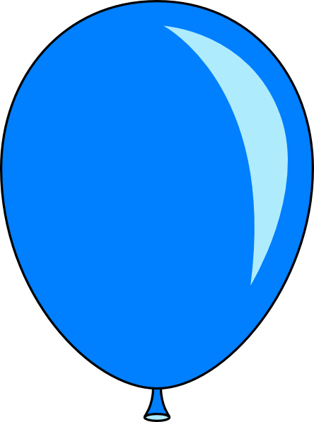 444x597 New Blue Balloon Clip Art