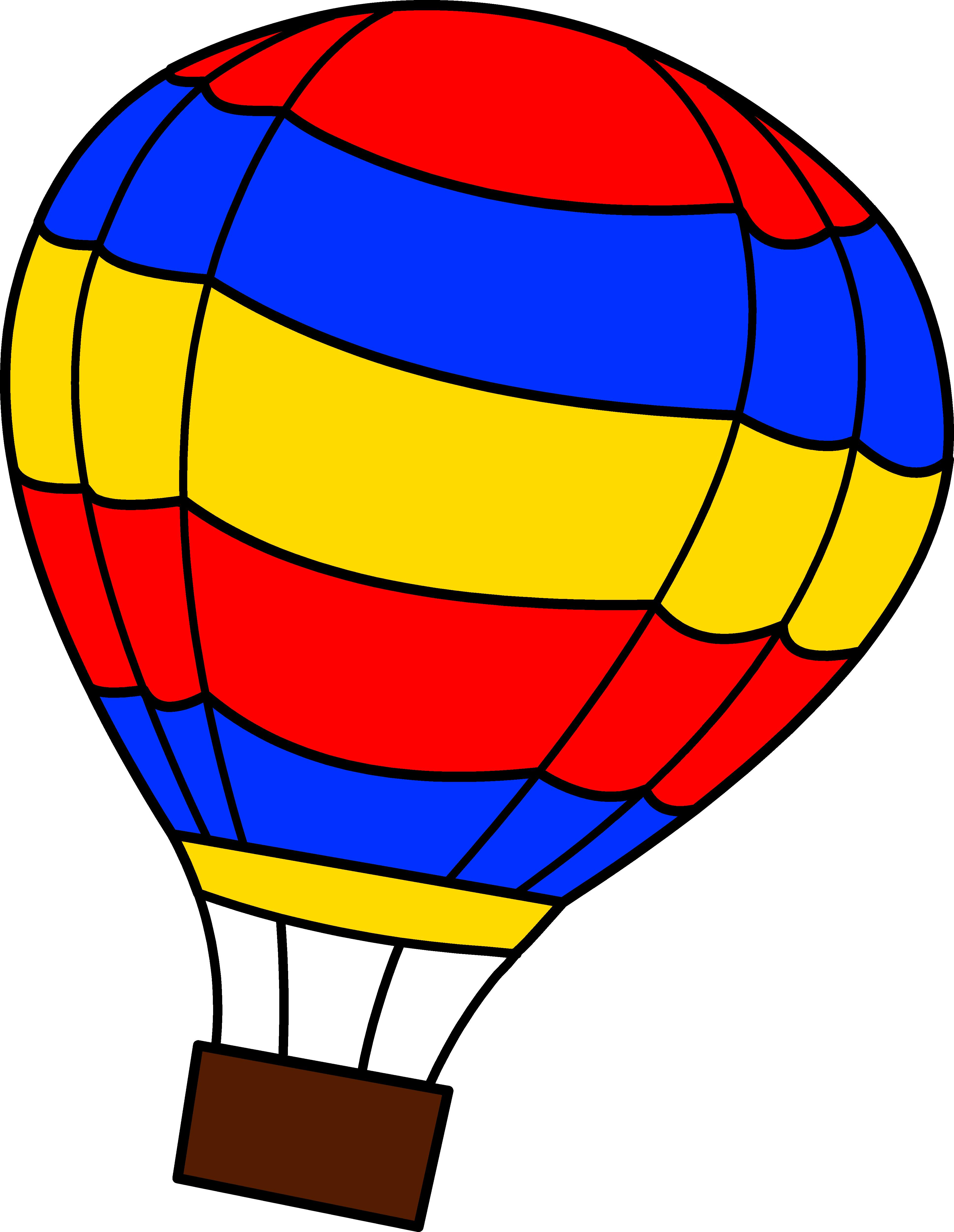 3877x5009 Hot Air Balloon Clip Art