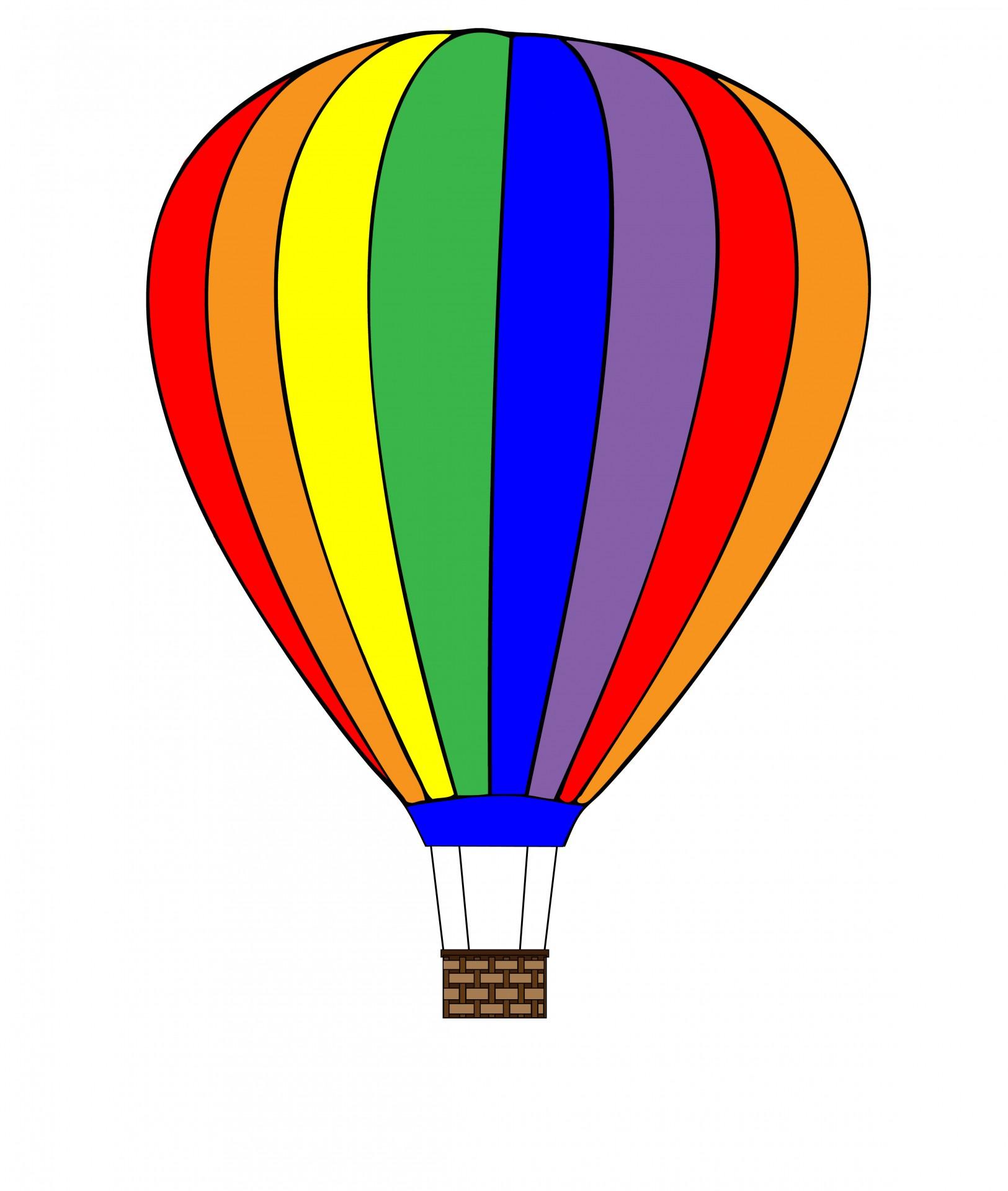 1625x1919 Hot Air Balloon Clipart Free Stock Photo