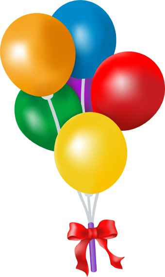 340x570 Image of Birthday Balloons Clipart