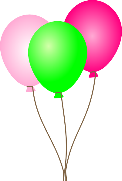 402x596 Pink balloons clipart free images