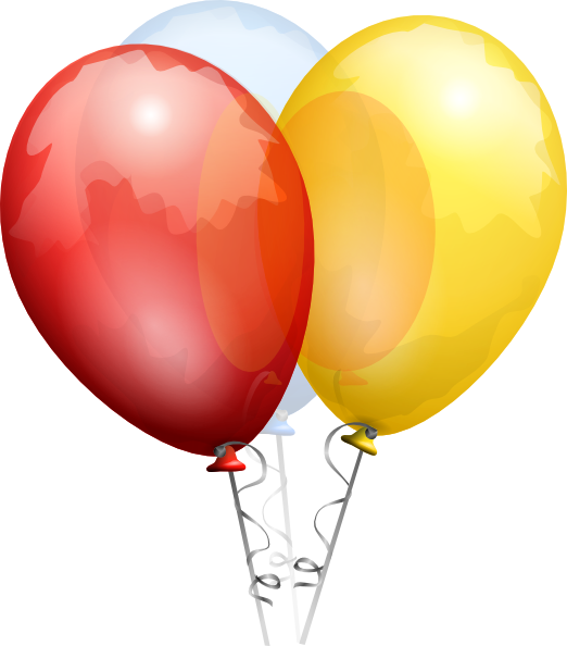 522x594 Birthday Balloons Clip Art