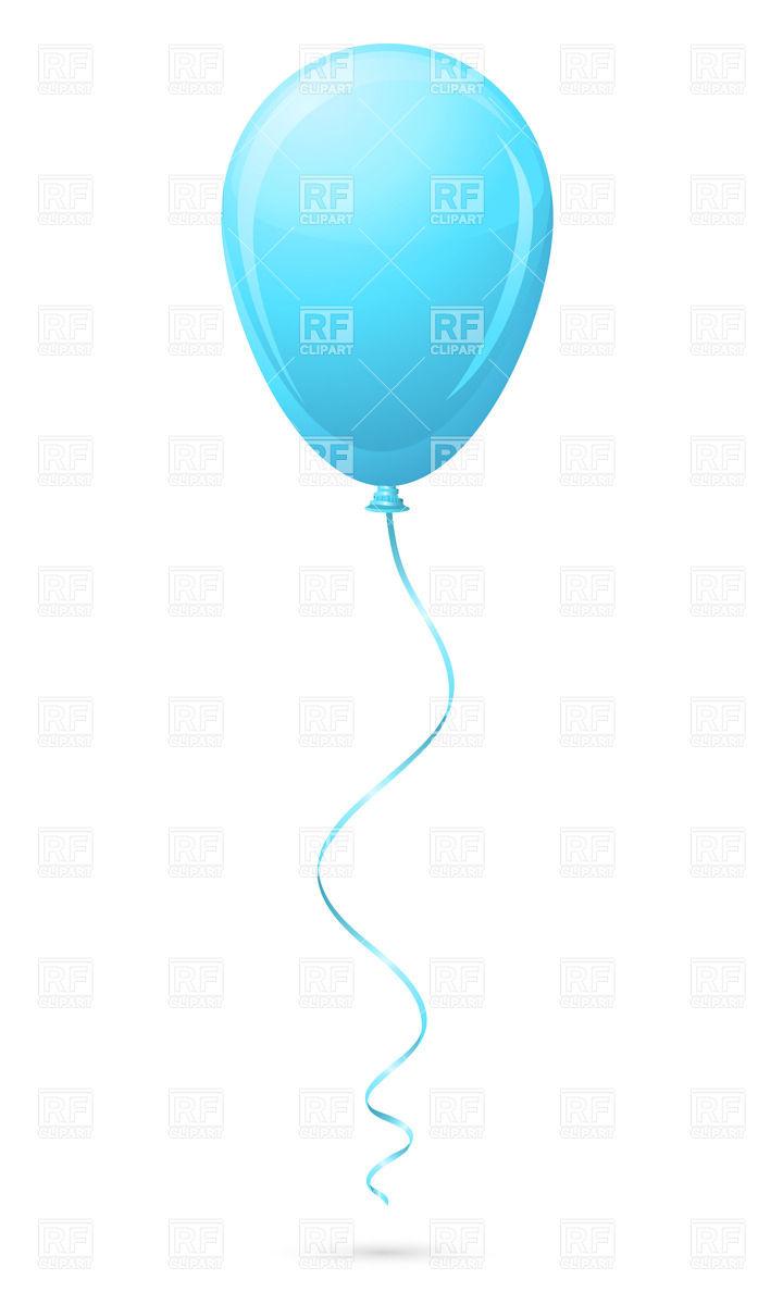 720x1200 Blue Balloon Royalty Free Vector Clip Art Image