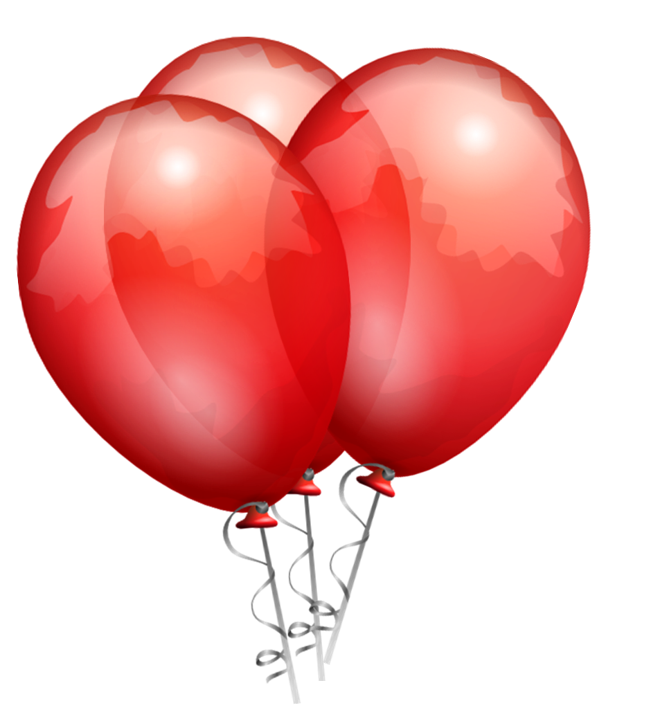 940x1052 Free Clipart Of Black And Red Balloons